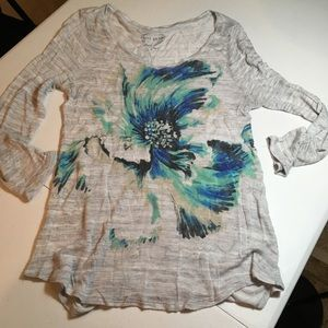 Lucky Brand Abstract Floral Top